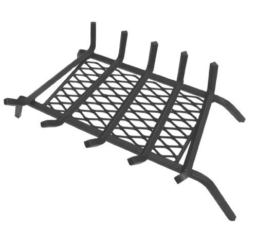 Landmann USA 9718S5 1/2 Steel Fireplace Grate with Ember Retainer, 18, 5 Bars, Zero Clearance by Landmann (Landmann Grate)