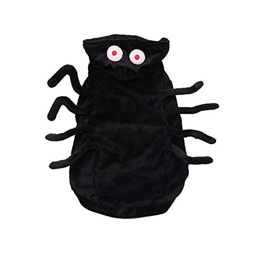 Yunn Pet Costume Black Spider Harness Costume for Cats Puppy Chihuahua Dressing Up Party Christmas Easter Party Festival Activity Apparel]()