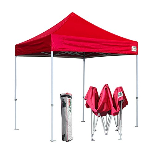Basic 8×8 Feet Ez POP up Canopy Outdoor Instant Party Tent Commercial Gazebo With Carry Bag (Red)