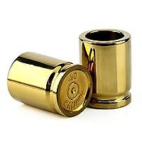 Barbuzzo, vaso de calibre 50 - Juego de 2 vasos de tiro con forma de cascos de balas - Súbete al bar, alinéalos y toma tu mejor tiro - Gran adición a Mancave - Cada tiro contiene 2-onzas