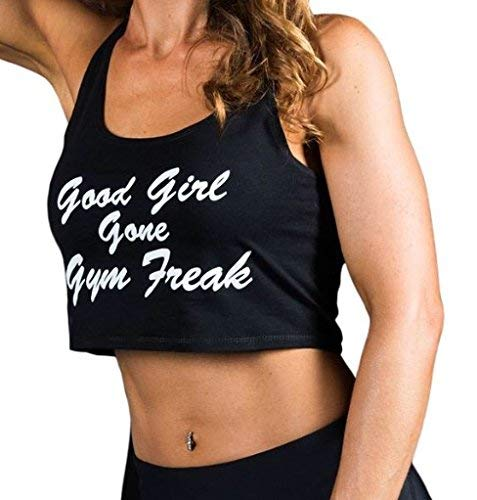 Amazon.com: Buena chica GONE gimnasio Freak Crop parte ...