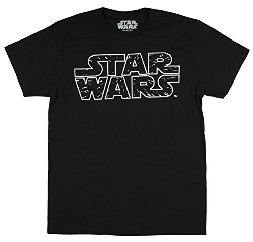 Star Wars Stars Logo Mens Black T-shirt XXL