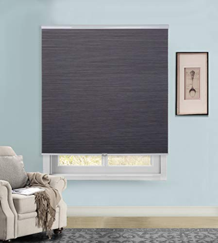 - Rama Rose Cordless Cellular Shades Blackout Pleated Fabric Honeycomb Window Blinds, 46