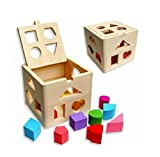 IIOOII Kids Baby Educational Toys Wooden Building Block Toddler Toys for Boys Girls Learning Toy Tool Coordinating Kids Eye And Hand Movements -Clever Kids Necessities Do Not Miss It