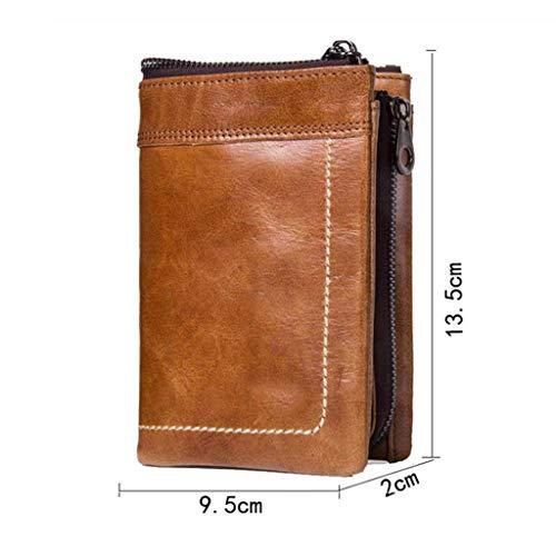 couleur Size One Brown Portefeuille Vachette Cuir Pour En Brown Vintage Taille Hommes De Achats nxAa8q7Pw