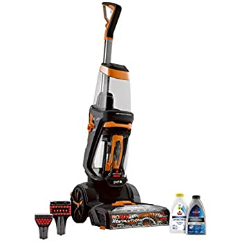 BISSELL ProHeat 2X Revolution Pet Full Size Upright Carpet Cleaner, 1548F, Orange
