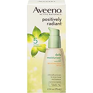 Aveeno Positively Radiant Daily Moisturizer With Sunscreen Broad Spectrum