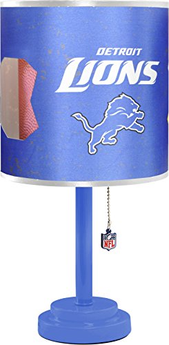 - Idea Nuova NFL NK980156 Detroit Lions Table Lamp with Die Cut Lamp Shade