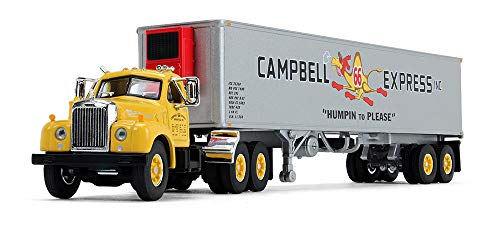 Scale Campbell Models (First Gear 1/64 Scale Diecast Collectible Campbell Express Inc. Mack B-61 Day-Cab with 40' Vintage Reefer Trailer (60-0423))