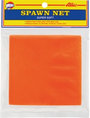 Atlas Mike's Spawn Net Squares Great to Keep Fishing Bait Together, Orange, 4 X 4-Inch