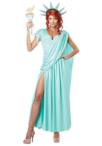 California Costumes Womens Lady Liberty Adult  Mint Green  Medium