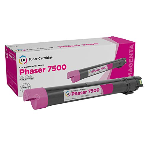 LD Remanufactured Toner Cartridge Replacement for Xerox Phaser 7500 106R1437 High Yield (Magenta)