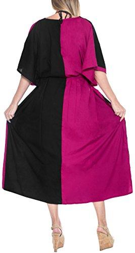 più rayon donne LA caftano notte abito lungo Nero insabbiare LEELA di caftano m412 usura sala sonno il delle IgIrx5tqn