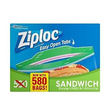 Ziploc Snack Bags, 280 Count (Jumbo Mega Pack - 580 Count)