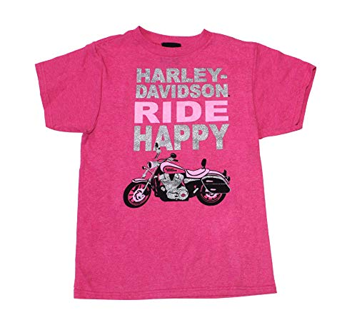 - Harley-Davidson (Big Girls Youth Girls Ride Happy Motorcycle Pink Short Sleeve T-Shirt (10/12)