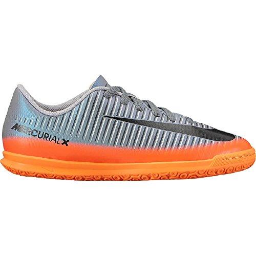 Nike Jr Mercurialx Vortex Iii Cr7 Ic, Zapatillas de Fútbol Unisex Niños Gris / Naranja