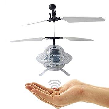 fliegendes UFO – alien – Fliegende Platillo con extra brillante LED discoteca luces.Fácil controlar
