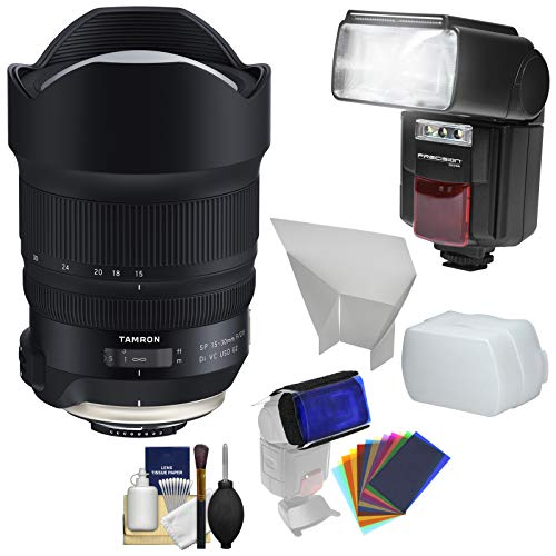 Price comparison product image Tamron SP 15-30mm f / 2.8 G2 Di VC USD Zoom Lens with Flash + Reflector,  Diffuser & Gels Kit for Nikon Digital SLR Cameras