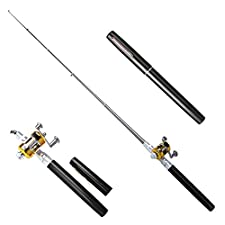 Sportsvoutdoors Telescopic Protable Pocket Fish Pen Carbon Fishing Rod Pole + Reel