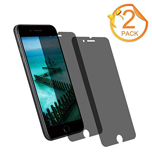 [2-Pack] Loopilops iPhone 8 Plus Tempered Glass Privacy Screen Protector [No Bubbles][9H Hardness] Compatible with Apple iPhone 8 Plus and iPhone 7 Plus and iPhone 6 Plus Privacy