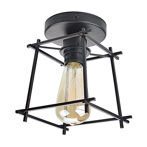 Lysed Semi-Flush Mount Ceiling Light,Industrial Vintage Chic Style Ceiling Lamp for Dining Room Home Decoration