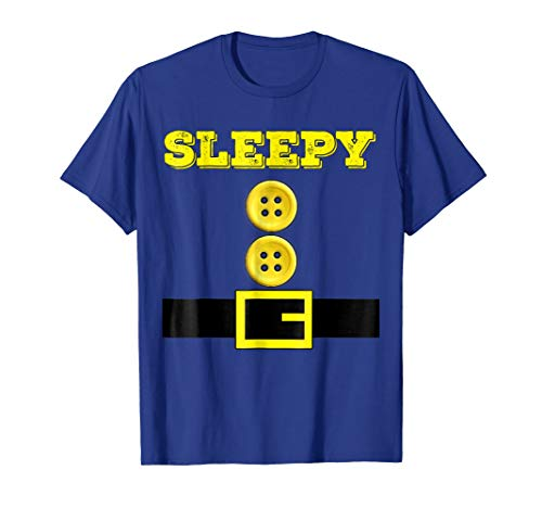 Sleepy Halloween Dwarf Matching Group Costume Gift T Shirt