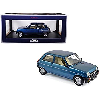 NEW 1:18 W/B NOREV COLLECTION - Navy Blue 1981 Renault 5 Alpine Turbo Diecast Model Car By Norev