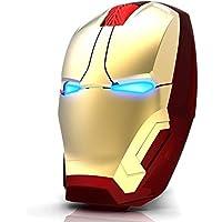 mouse inalámbrico Calvas Runsnail Iron Man para videojuegos, computadora, con botón silencioso Click800/1200/1600 DPI ajustable