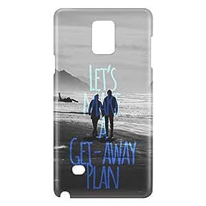 Loud Universe Galaxy Note 5 Let's Make A Get Away Plan Print 3D Wrap Around Case - Gray/Black