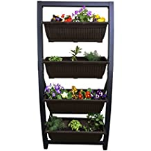 Outdoor raised planter Keter easy grow elevated flower garden planter