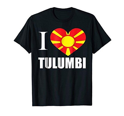 Tulumbi Macedonian I Love Heart Flag T-Shirt