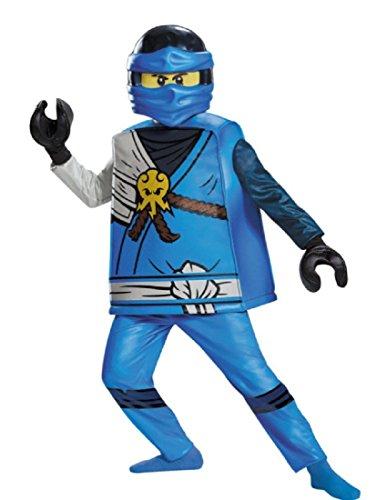 Jay Deluxe Ninjago Lego Costume, Small/4-6 ()