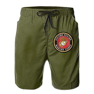 YINGWANG USMC Marine Corps Logo USMC The Few The Proud for Men Beachwear Beach Swim Trunks Board Shorts
