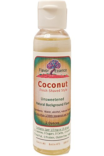 COCONUT Flavoring by Flavor Essence (Unsweetened, Natural Background