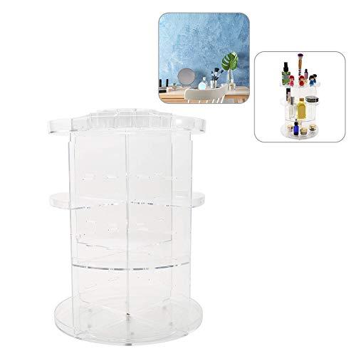 Caja de Almacenamiento Cosmética, Caja de acabado de Escritorio Giratoria Transparente Capacidad grande de 360 °...
