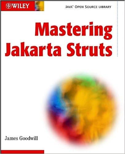 mastering jakarta struts goodwill james