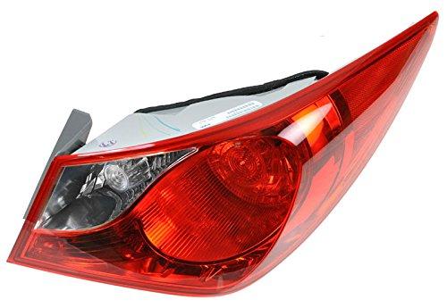 Right Hyundai Sonata (Outer Rear Taillight Taillamp Passenger Right RH Fits 11-13 Hyundai Sonata)