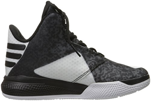 Adidas Performance Mens Light Em Up 2 Scarpe Da Basket Bianco / Nero / Onice