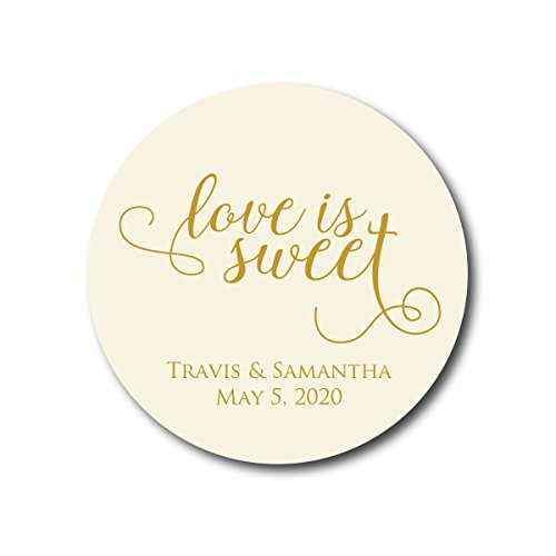 (Love is Sweet - Wedding Favor Stickers)