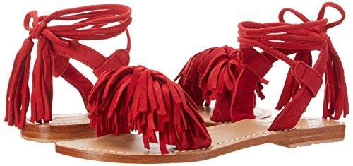 Mujer Cuña Rojo Con Sandalias Mystique qtURCx