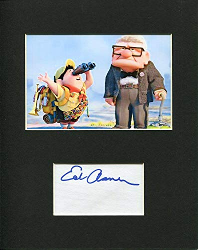 Ed Asner Disney Pixar Voice UP Carl Fredricksen Signed Autograph Photo Display from HollywoodMemorabilia