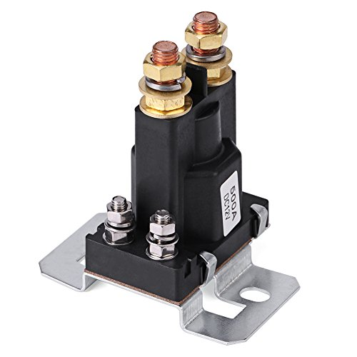 500A DC 12V High Current Solenoid Auto Car Starter Relay 4 Pin SPST Start Contactor Double Batteries Isolator Control On/Off Switch