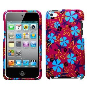 Flower Flake Phone Protector Faceplate Cover For APPLE iPod touch(4th generation)