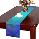 Color Abstract Hole Plasma Spiral Table Runner, Kitchen Dining Table Runner 16 X 72 Inch For Dinner Parties, Events, Decor