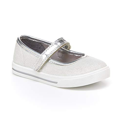Simple Joys by Carter's Baby Girls' Mia Casual Mary Jane Flat, Grey, 9 M US Toddler
