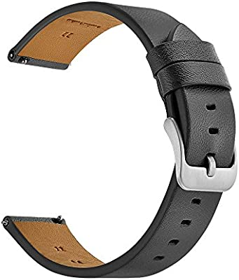 Kartice For Samsung Gear S3 Classic / Frontier Smartwatch Band ,22MM Genuine Leather Strap Replacement Buckle Strap Wrist Band for Samsung Gear S3 Frontier / Classic (Grey)