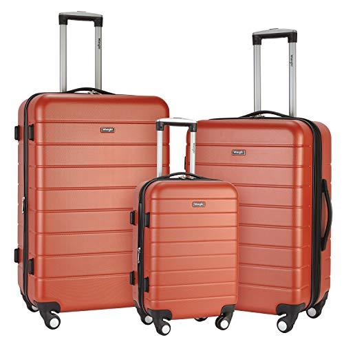 - Wrangler 3 Piece USB Port Cup Holder Luggage Set