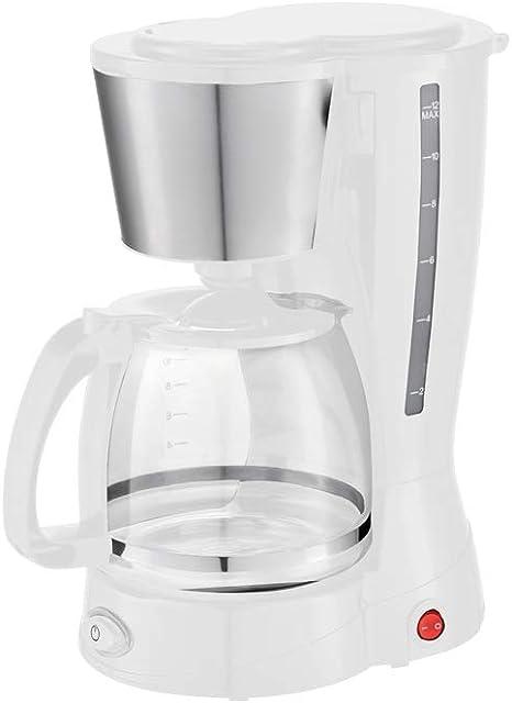 Grunkel - CAF-B Aroma - Cafetera de Goteo con Filtro Permanente y Capacidad para 12 Tazas - 800W - Blanco: Amazon.es: Hogar