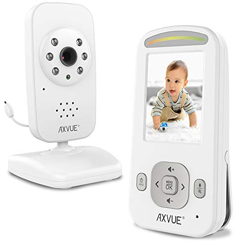 - Video Baby Monitor with Night Vision Camera and Slim-Designed Screen by Axvue, Model E600