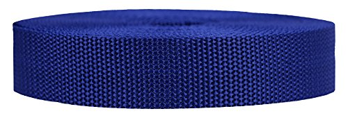 Strapworks Heavyweight Polypropylene Webbing - Heavy Duty Poly Strapping for Outdoor DIY Gear Repair, 1 Inch x 50 Yards - Navy Blue